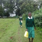 The Water Project: Friends School Mahira Primary -  Students Heading To Collect Water