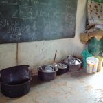 The Water Project: Boyani Primary School -  Water Storage And Dishes Inside A Classroom