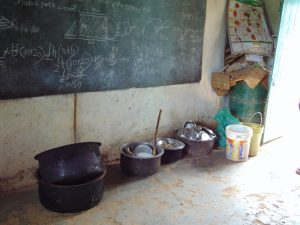 The Water Project:  Water Storage And Dishes Inside A Classroom
