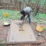 The Water Project: Bumavi Community, Joseph Njajula Spring -  Sanitation Platform Construction