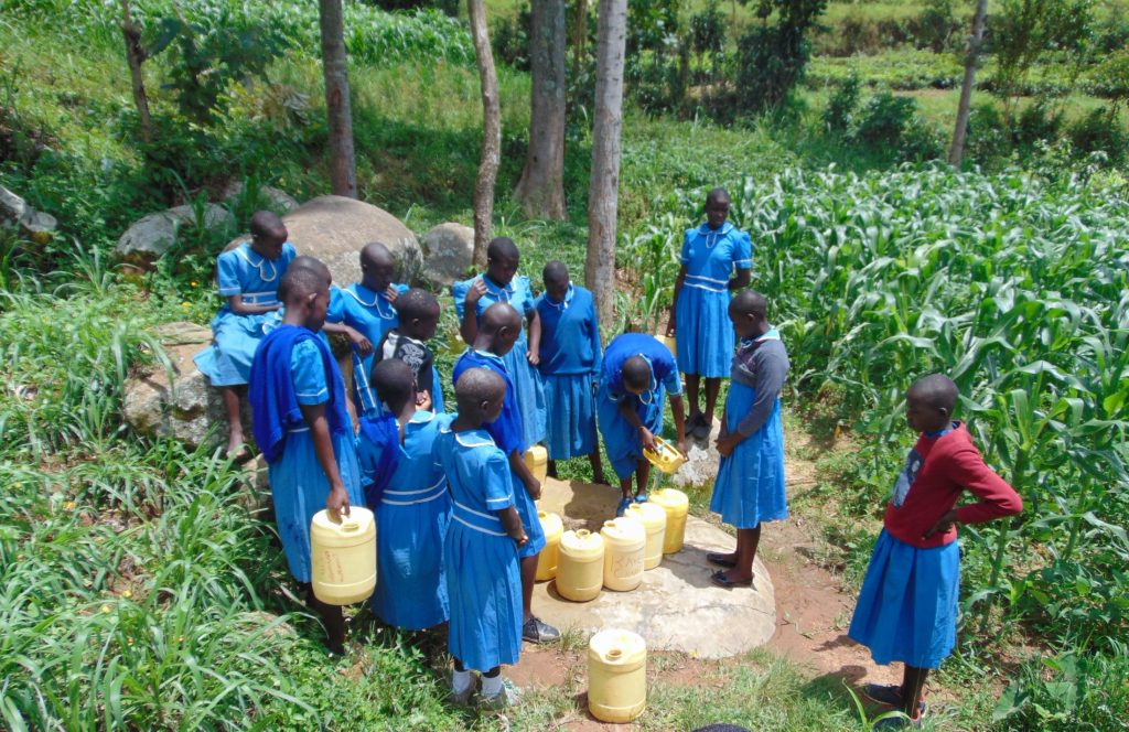 The Water Project : 24-kenya20125-students-collecting-water-4