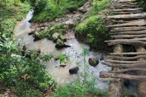 The Water Project:  Water Source And Risky Footbridge