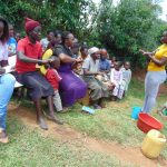 The Water Project: Ebutindi Community, Tondolo Spring -  Field Officer Leads Handwashing Activity