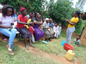 The Water Project:  Field Officer Leads Handwashing Activity