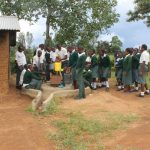 The Water Project: Sawawa Secondary School -  Students Collecting Water