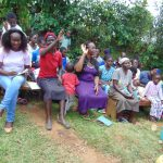 The Water Project: Ebutindi Community, Tondolo Spring -  Participants Respond To A Question