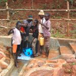 The Water Project: Shisere Community, Richard Okanga Spring -  All Smiles At The Spring
