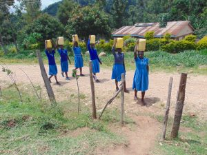 The Water Project:  Arriving At School Gate With Water