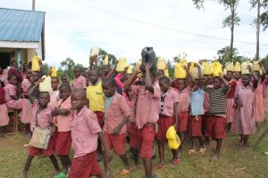 The Water Project:  Students Arrive At School With Water