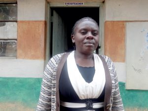 The Water Project:  Deputy Head Teacher Madam Margaret Mikisi