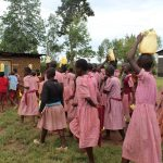 The Water Project: Mukoko Baptist Primary School -  Students Deliver Water To The Kitchen