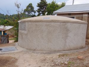 The Water Project:  Rain Tank Side View