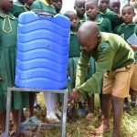 The Water Project: Friends School Mutaho Primary -  Handwashing Demonstration By A Student