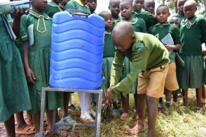 The Water Project:  Handwashing Demonstration By A Student