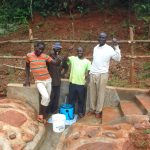 The Water Project: Shisere Community, Richard Okanga Spring -  Thumbs Up For Clean Water