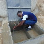 The Water Project: Gimariani Secondary School -  Enjoying The Rainwater