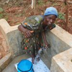 The Water Project: Shisere Community, Richard Okanga Spring -  Enjoying The Spring Water