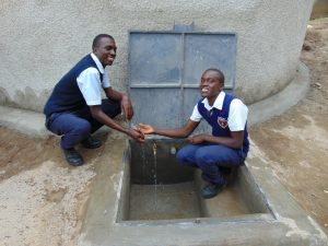 The Water Project:  Students At The Rain Tanks Tap