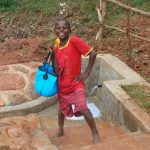 The Water Project: Shisere Community, Richard Okanga Spring -  Happy With Clean Fresh Water