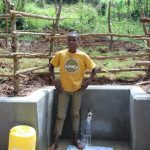 The Water Project: Bumavi Community, Joseph Njajula Spring -  Standing Proud With The Spring