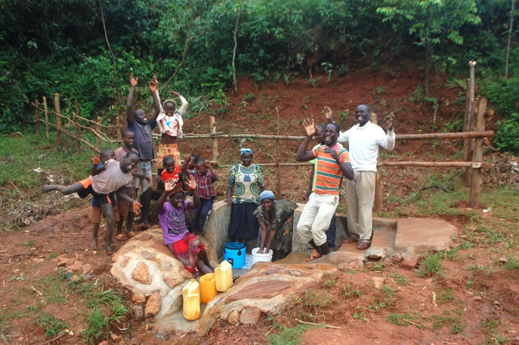 The Water Project : 39-kenya19149-celebrating-the-spring