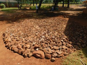 The Water Project:  Stone Rain Tank Foundation