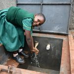 The Water Project: Friends School Mutaho Primary -  Washing Hands At The New Rain Tank