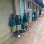 The Water Project: Friends School Mahira Primary -  Pupils Outside Their Classrooms