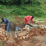 The Water Project: Shisere Community, Richard Okanga Spring -  Rub Wall And Stairs Underway