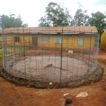 The Water Project: Friends School Mutaho Primary -  Rebar Tank Form Placed Over Cemented Foundation