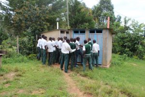 The Water Project:  Boys Queueing At The Latrines