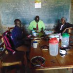 The Water Project: Jinjini Friends Primary School -  Having Lunch In The