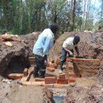 The Water Project: Bumavi Community, Joseph Njajula Spring -  Wall Construction
