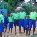 The Water Project: Boyani Primary School -  Students At The School Gate