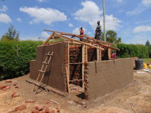 The Water Project:  Framing Latrine Doors And Roof