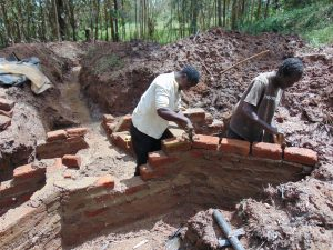 The Water Project:  Preparing For Pipe Setting
