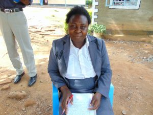 The Water Project:  Deputy Head Teacher Mrs Gladys Owaga