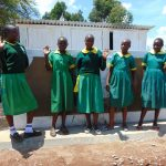 The Water Project: Sikhendu Primary School -  Girls With Their New Latrines