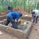 The Water Project: Sikhendu Primary School -  Latrine Construction
