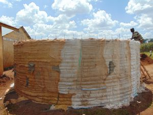 The Water Project:  Tank Walls Readying For Plaster