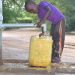 The Water Project: Tulimani Community A -  Collecting Water