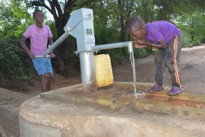 The Water Project:  Drinking Well Water