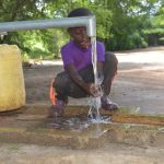 The Water Project: Tulimani Community A -  Fetching Water