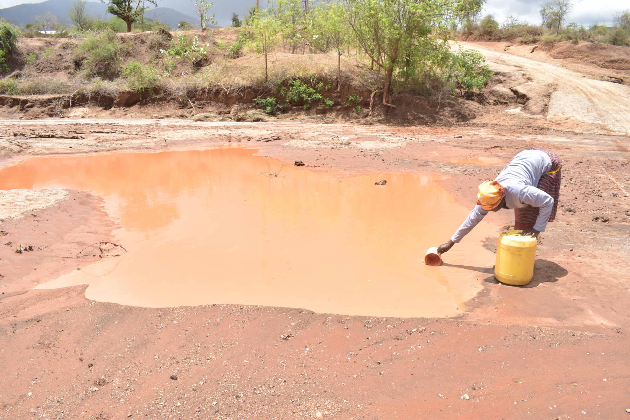 The Water Project : kenya20300-20301-scooping-water