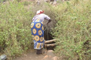 The Water Project:  Filling Bucket Down Open Well