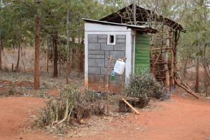 The Water Project:  Latrine And Tippy Tap Handwashing Station