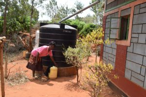 The Water Project:  Small Rainwater Tank At Home