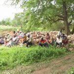 The Water Project: Mbitini Community A -  Shg Members Gathered Near The Site Of The Proposed Project