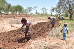 The Water Project:  Community Members Already Preparing Land For Project