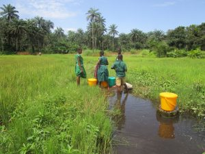 The Water Project:  Students Set To Carrying Countainer On Thier Head
